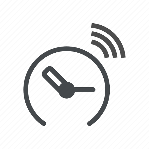 clock, internet of things, iot, time, wifi icon