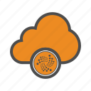 cloud, cryptocurrency, iota, web icon