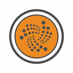 coin, cryptocurrency, iota icon
