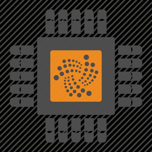 blockchain, cryptocurrency, iota, mining icon