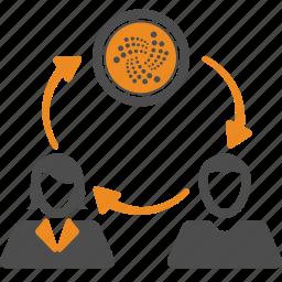 cryptocurrency, iota, money, transfer icon