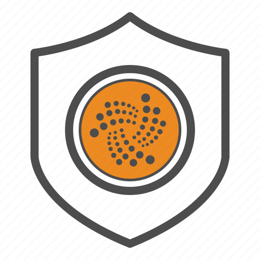 cryptocurrency, guarantee, iota, safe, secure, security icon