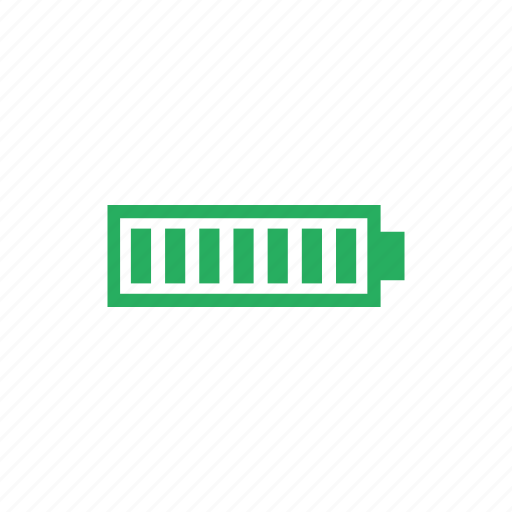 battery, charge, full, mobile, phone icon
