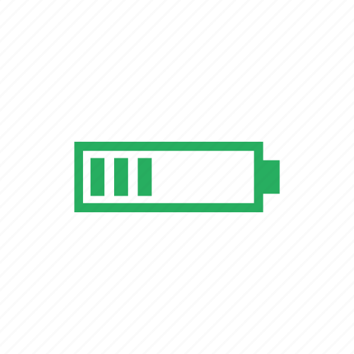 battery, charging, level, medium icon