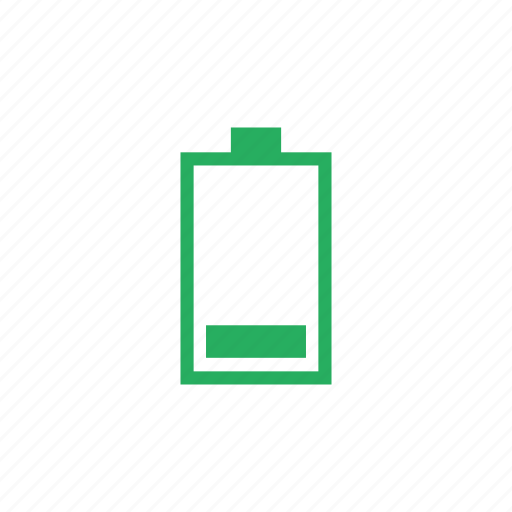 battery, charge, level, low, mobile, vertical icon