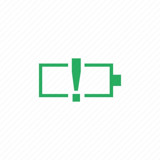 battery, level, low, mobile, phone, warning icon