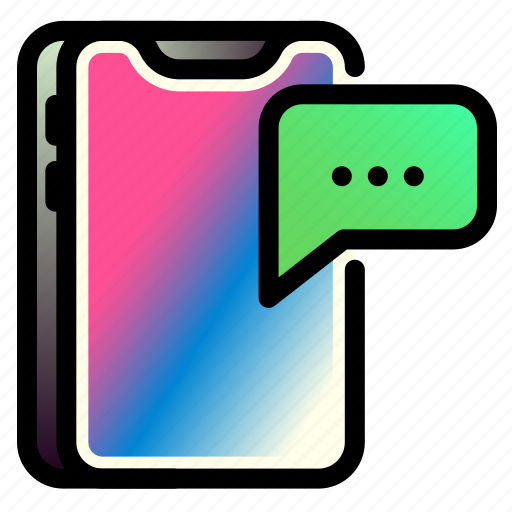 iphone, message, mobile, phone, smartphone, technology icon