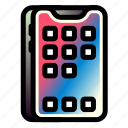 app, iphone, mobile, phone, smartphone, technology icon
