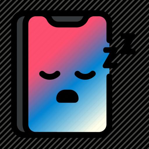 iphone, mobile, phone, sleep, smartphone, technology icon