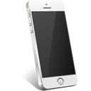 iphone, silver icon
