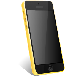 iphone, yellow icon