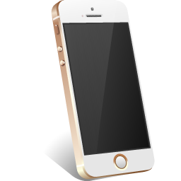 apple, gold, iphone icon