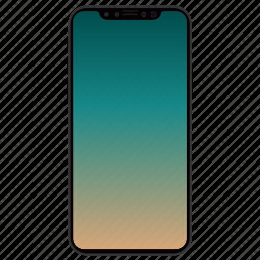 apple, iphone, iphone 8, iphone pro, iphone x, jet black, smartphone icon