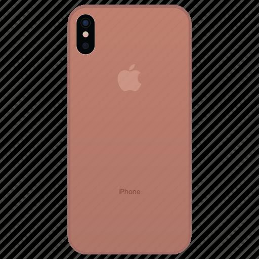 apple, blush, gold, iphone, iphone 8, iphone pro, iphone x icon