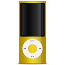 apple, ipod, yellow icon