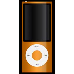 apple, ipod, orange icon