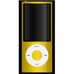 apple, ipod, yellow icon