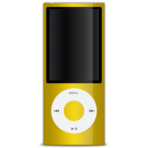 5g, ipod, nano, yellow icon