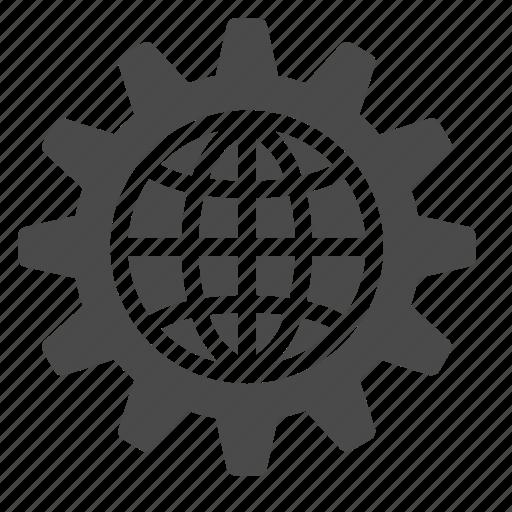 global, planet, process, rule, settings, web icon
