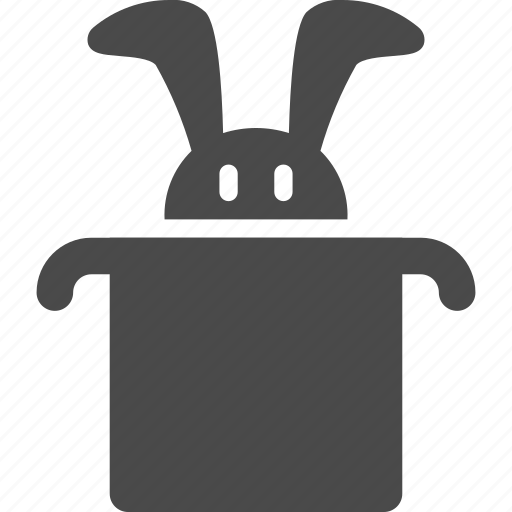 hat, magic, miracle, rabbit, wizard icon