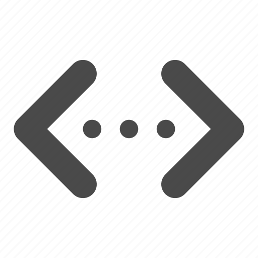 brackets, code, coding, development, html, tag icon