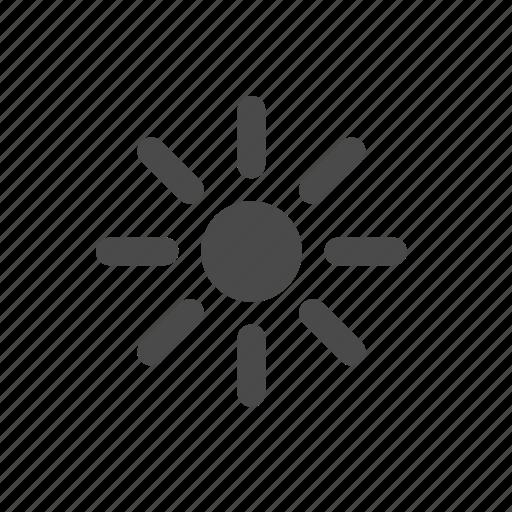 brightness, low, sun icon