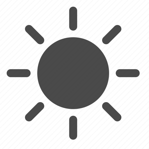 brightness, high, sun icon