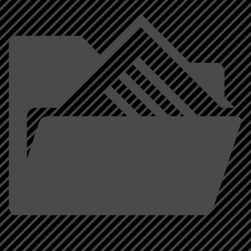 catalog, directory, files, folder, open icon