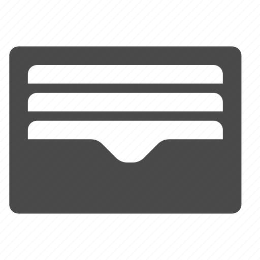inbox, wallet icon