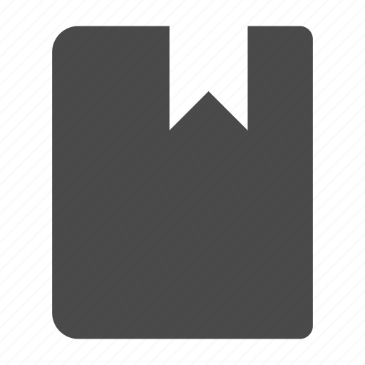 book, read, ribbon, text icon