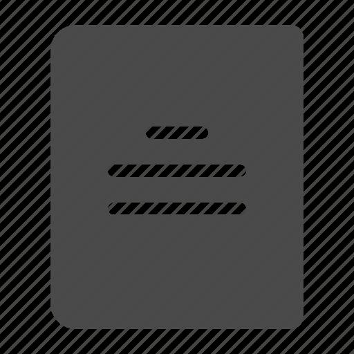 book, text icon