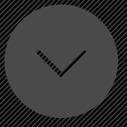 arrow, bottom, circle, down, end, next icon