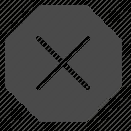 ban, delete, denied, lock, octagon, prohibition, sign icon