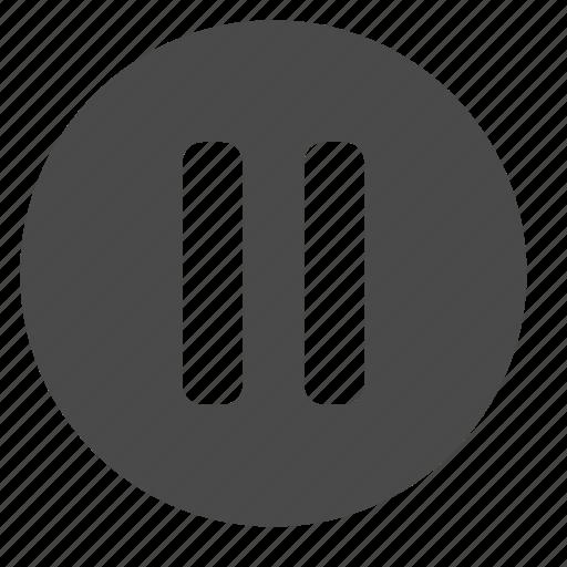 circle, mode, pause icon