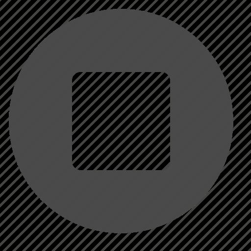 circle, mode, stop icon