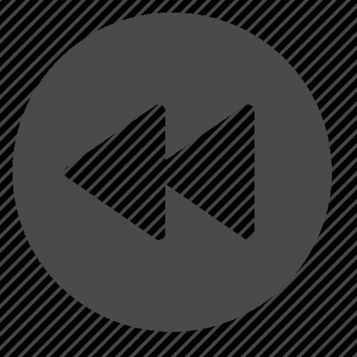 backward, circle, prev, previous, rewind icon