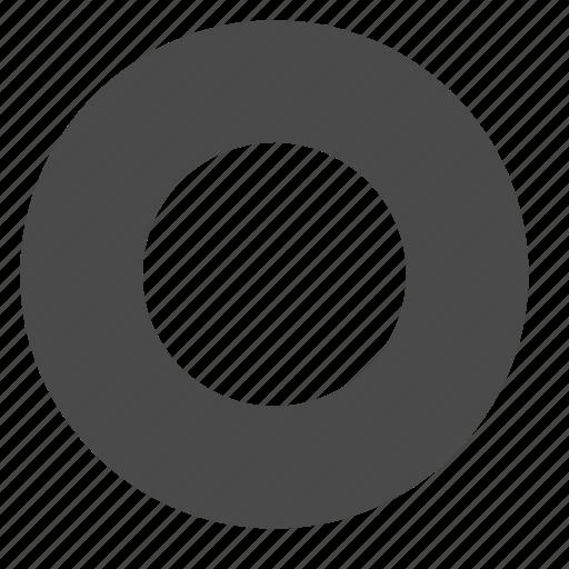 circle, mode, record, tape icon