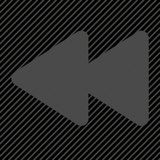 backward, prev, previous, rewind icon