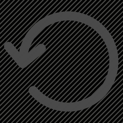 arrow, circle, counterclockwise, rotate icon