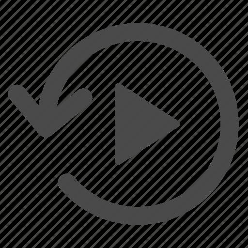 arrow, circle, counterclockwise, replay icon