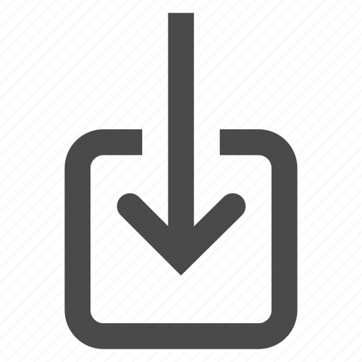 enter, incoming, input, inside, receive, update icon