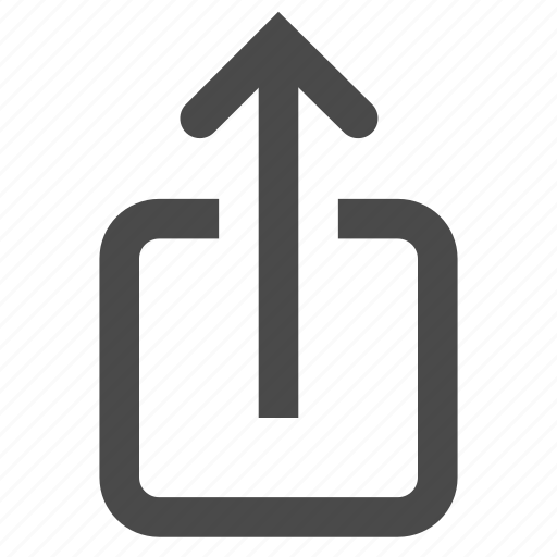 exit, mail, outcoming, output, outside, send, share icon