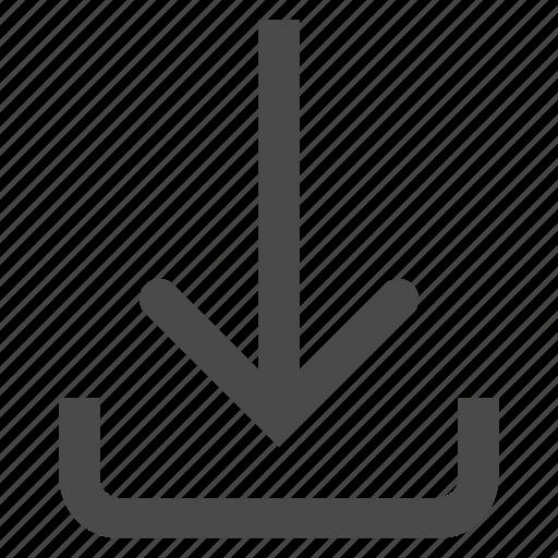 arrow, download, sign icon