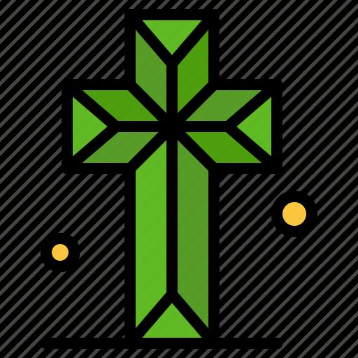 cathedral, church, cross, parish icon
