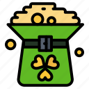 clover, coin, green, hat, in