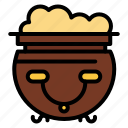 american, eat, food, pot icon