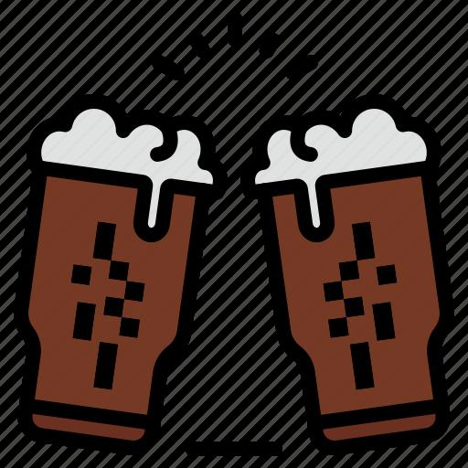 beer, drink, glass, ireland, wine icon