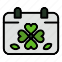 calendar, clover, day, leaf, patricks