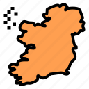 ireland, map, world icon