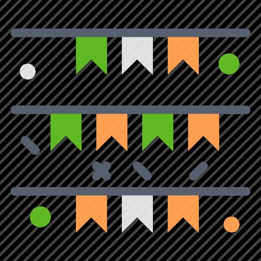 Banner, flag, garland, ireland, irish icon - Download on Iconfinder
